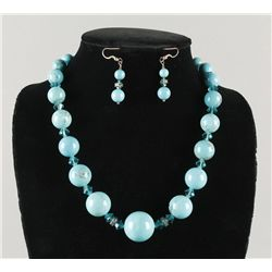Round Turquoise and Crystal