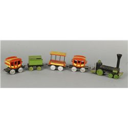 3 Wooden Circus Trains with Engine