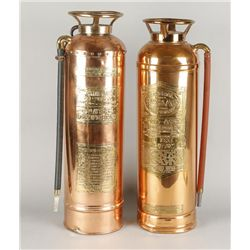 2 Copper and Brass Fire Extinguishers