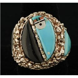 Zuni Men's Ring by Lee & Mary Weebothee