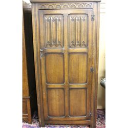 Oak Carved Armoire