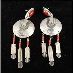 Sterling Silver Thunderbird Earrings