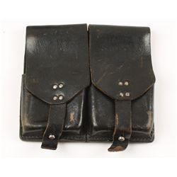 German World War II Waffen SS Marked Leather Ammo