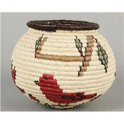 Northern Plains Indian Small Bird Basket