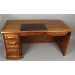 Oak 2 Piece Computer Desk