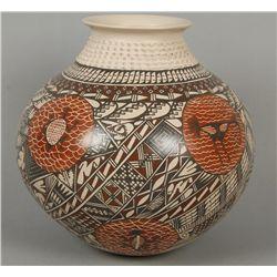 Large Polychrome Pot