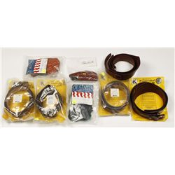 Lot of Leather Belts and Holsters