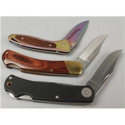 Lot of 3 Folding Knives