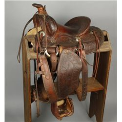 S.A. Wade Floral Tooled Saddle