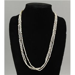 3 Strand Freshwater Pearl Necklace with 14K Clasp