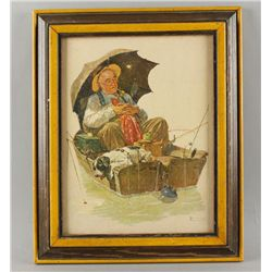 Norman Rockwell Print on Canvas