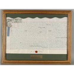 British Land Document Signed by Samuel Dickson