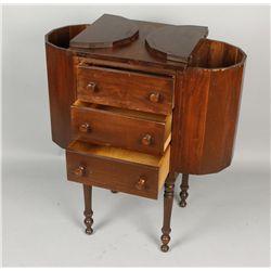 Vintage Walnut Sewing Table