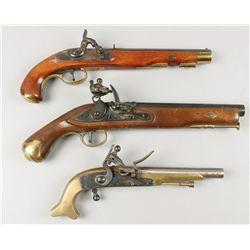 Lot of 3 Blackpowder Pistols