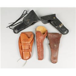 Lot of 5 Leather Holsters