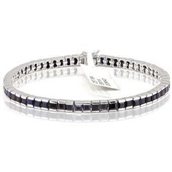 58pcs 3mm Square Sapphire 0.925 Bracelet