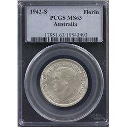 1942 S Florin PCGS MS63