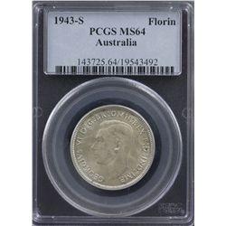 1943 S Florin PCGS MS64