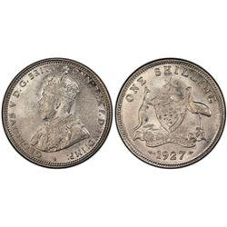 1927 Shilling PCGS AU58