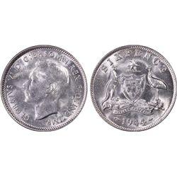 1944 s Sixpence PCGS MS 62