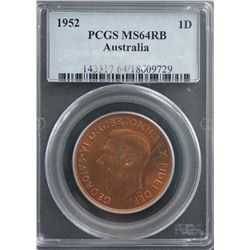 1952 Penny PCGS MS64 RB