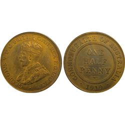 1919 Half Penny PCGS MS 64 RB