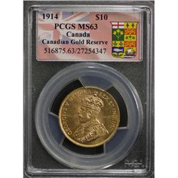 1914 Canada $10 MS 63