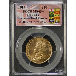 1914 Canada $10 MS 63 Plus