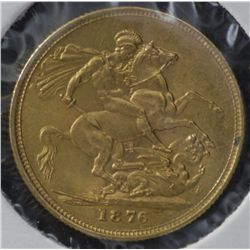 Australia 1876S Sovereign , Uncirculated