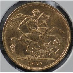 Australia 1877m Sovereign Uncirculated