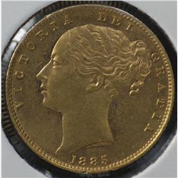 1885 M Shield Sovereign Uncirculated