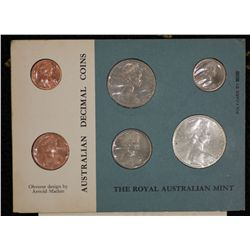 Australia 1966 Card Mint Set Perfect condition with original letter