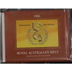 Australia 1986 Mint Sets (5) In packaging of issue
