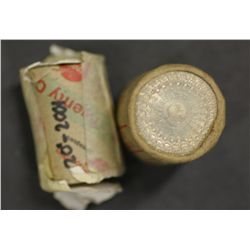 Australia 50c Roll 1977 complete 20c roll 2001 NSW approx 15 coins