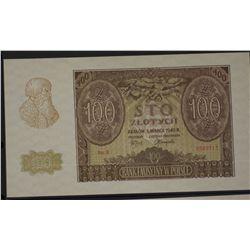Poland 1940 100 Zlotych