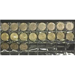 GB Scottish Shillings 1960, all BU 19 Coins