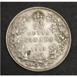 Canada 25c 1911, EF and a 1 year type