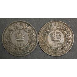 Newfoundland 1c 1872 Fine, 1896 gVF