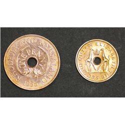 Rhodesia proof Halfpenny & Penny 1955 Scarce