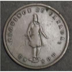 Quebec ½ Penny Token 1852 a VF