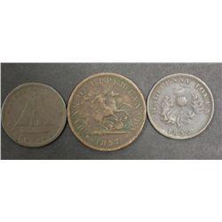 Nova Scotia Halfpenny, upper canada penny and Halfpenny