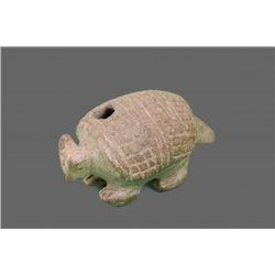 Pre-Columbian Armadillo.  500 AD to 1000 AD   (Size: