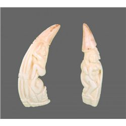 Pair of Baby Walrus Ivory (Erotic)   (Size:  See Last