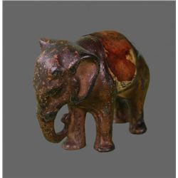 Antique Elephant Solid Bronze Figure   (Size:  See Last