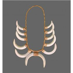 Native American Wild Boar Tusk Necklace.   Comes with
