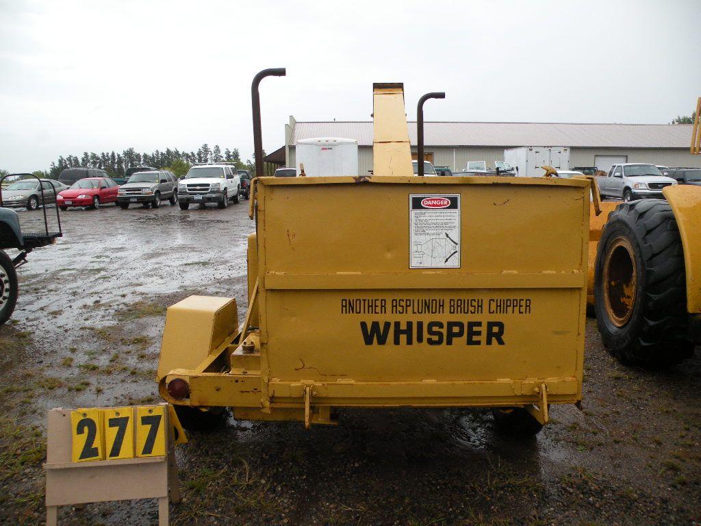 Whisper wood chipper -Ford powered