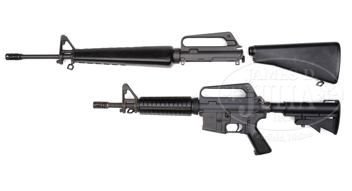 **COLT M16 A1 IN M4 CONFIGURATION WITH SPARE UPPER AND BUTTSTOCK (FULLY  TRANSFERABLE)
