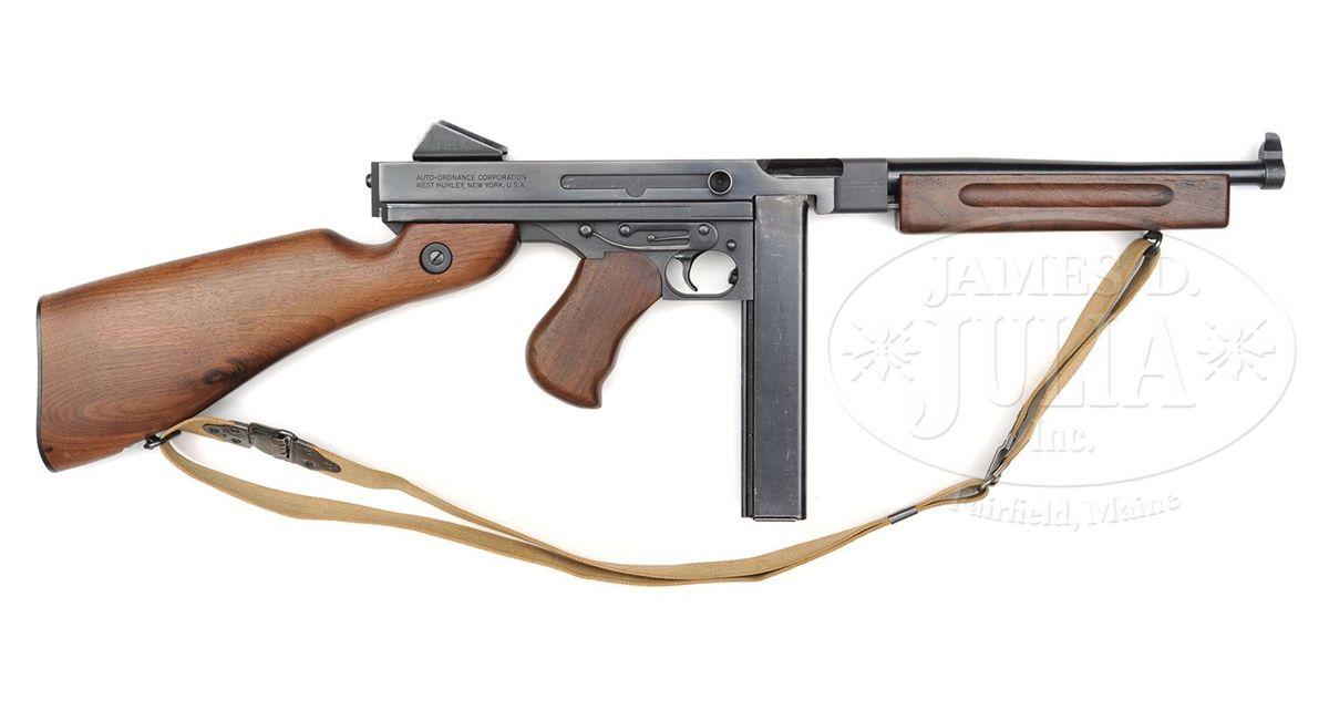 **AUTO ORDNANCE WEST HURLEY M1A1 THOMPSON SUBMACHINE GUN (C&R)