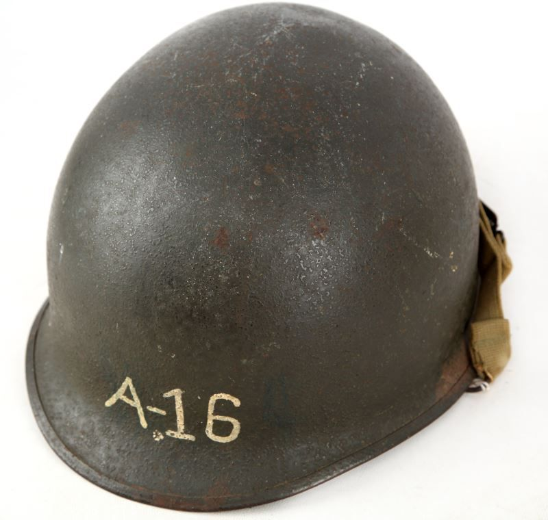 WWII M1 HELMET COLLECTION OF 6 FIXED & SWIVEL BALE