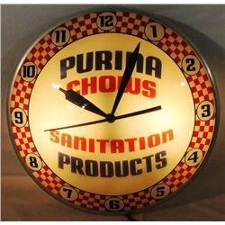 Purina Chow Double Bubble Clock